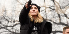 Madonna performs onstage during the Women's March. Photo / Getty Images