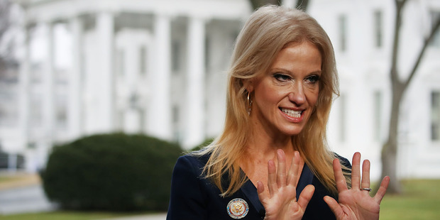 Kellyanne Conway's language is the latest in a string of behaviour from the Trump led Republicans to set off Orwellian alarm bells. Photo / Getty Images