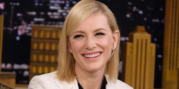 Cate Blanchett visits The Tonight Show Starring Jimmy Fallon. Photo / Getty