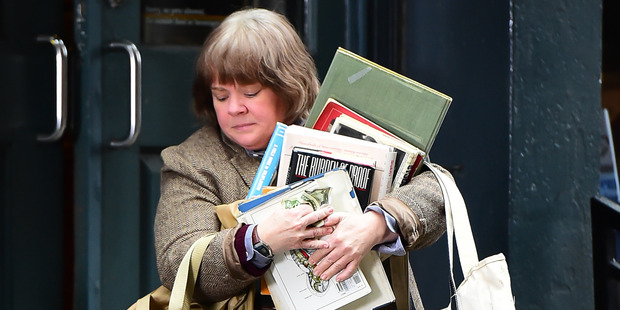 Actress Melissa McCarthy is seen on the set of 'Can You Ever Forgive Me' in New York City. Photo / Getty