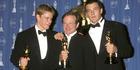Stars of Good Will Hunting, Matt Damon, Robin Williams and Ben Affleck. Photo / Getty