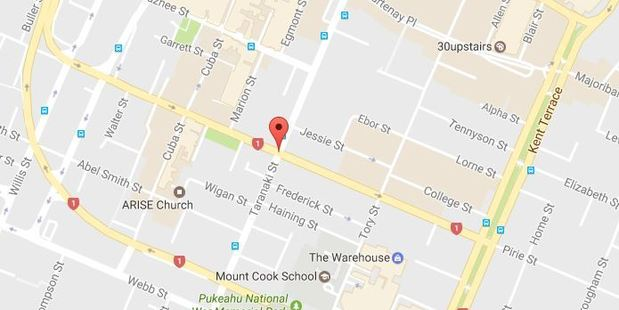 Police have closed a section of Vivian St in Wellington after a piece of glass fell from a building and landed on a parked car. Photo / Google