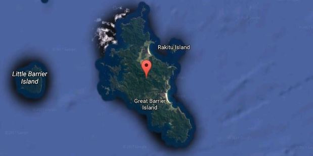 The accident happened on Great Barrier Island. Photo / Google