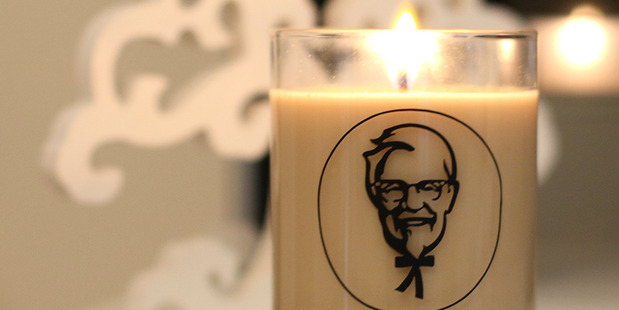 The candle that garnered international attention in December 2016. Photo / KFC