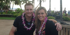 Martin Guptill and his wife, Laura McGoldrick, in Hawaii.