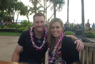Martin Guptill and his wife, Laura McGoldrick, in Hawaii.