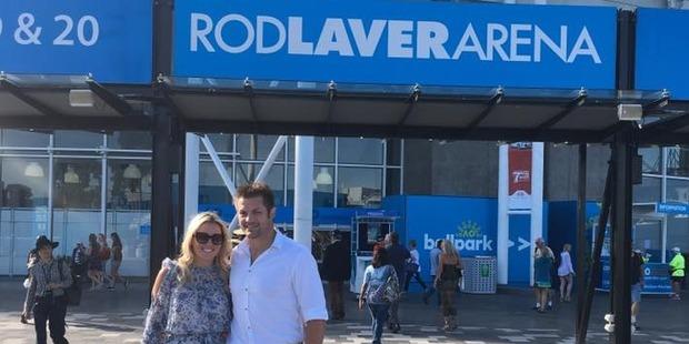 Richie and Gemma at Rod Laver Arena in Melbourne. Photo / via Facebook