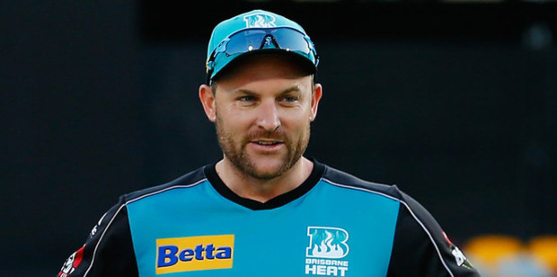 Former New Zealand skipper Brendon McCullum gives the Brisbane Heat a big boost in confidence, says team mate Chris Lynn. Photo / AP