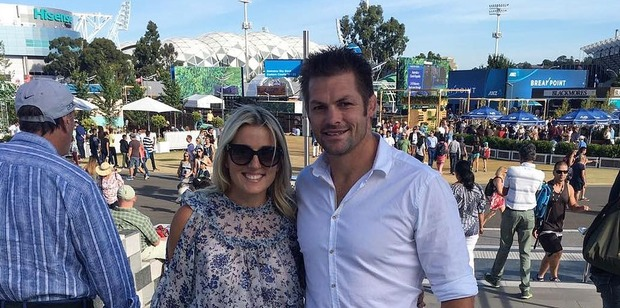 Gemma and Richie McCaw enjoying a day at the Australian open. Photo / Instagram