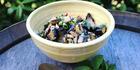 Eggplant salad with fresh herbs. Photo / Doug Sherring