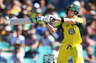 Australian captain Steve Smith batting. Photo / Photosport.co.nz