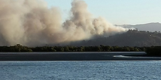 Firefighters expect to be at the scene of last week's devastating Whitianga blaze for another two weeks.  Photo / Supplied