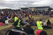 The crowd at the Ellerslie Showgrounds for the Ignite Light Show on Saturday before the bad weather set in. Photo / Ignite