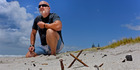 Leigh Sefton wants people to stop burning pellet fires on the beach between Hart St and Oceanbeach Rd. Photo/George Novak
