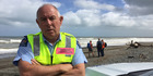 Sergeant Bill Nicholson was coordinating the search this morning from Te Horo Beach. Photo/Melissa Nightingale