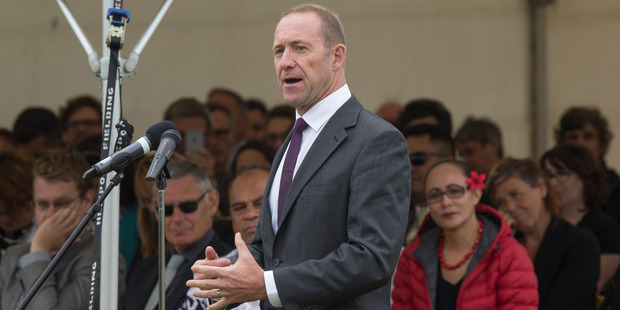 """Labour leader Andrew Little's speech at Ratana Pa Marae today was """"well received"""" by the Ratana Church leadership. Photo / Mark Mitchell"""