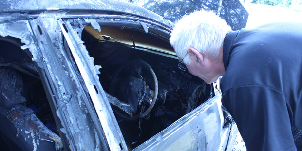 David Bell, hailed a hero after raising the alarm to a car fire at a Whanganui rest home this morning.