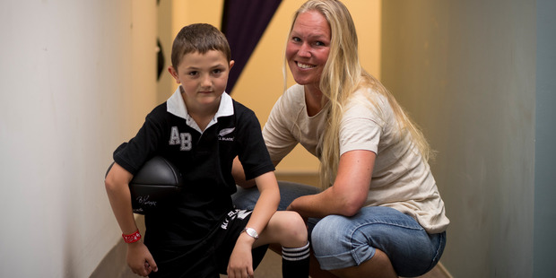 Loading Hilal Otri, 8, from Whanganui who is a sufferer of cardiac inherited disease with Dr Annika Winbo. Photo / Dean Purcell