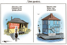 Ioela Ana Rauti defies an eviction notice to her State House, earmarked for demolition. Illustration / Rod Emmerson