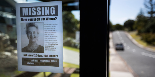 Torbay resident Pat Wearn hasn't been seen since she left her home in Torbay to go for a walk on the 16th of January this year. Photo / Brett Phibbs