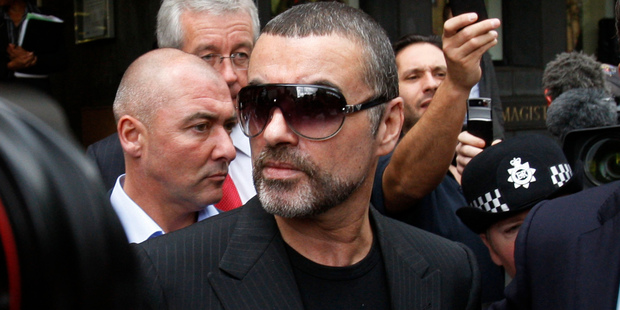Loading British singer George Michael leaves pleaded guilty in a London court to two drug offenses. Photo / AP