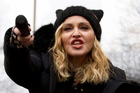 Madonna performs during the Women's March on Washington. Photo / AP