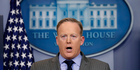Sean Spicer's statement should be seen for what it is: Remarks made over the casket at the funeral of access journalism, Margaret Sullivan writes. Photo / AP