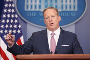 White House spokesman Sean Spicer is holding a press conference for the second straight day. Photo / AP