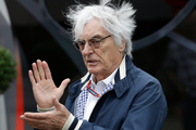 FILE - In this file photo dated Saturday, July 9, 2016, Bernie Ecclestone gestures in a paddock at the Silverstone racetrack, Silverstone, England. Photo / AP.