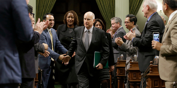 California Gov. Jerry Brown Highlights Opposition To Trump In Address