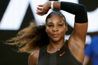 United States' Serena Williams celebrates after defeating Croatia's Mirjana Lucic-Baroni during their semifinal at the Australian Open tennis championships. Photo / AP.