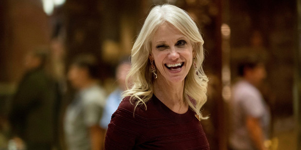 Kellyanne Conway, President-elect Donald Trump's campaign manager, leaves Trump Tower, in New York. Photo / AP