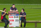 Geyser City cricket first XI players Manny Kumar (left), club captain Jimmy Coutts (centre) and Matt Collier. PHOTO/ FILE
