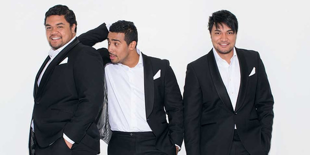 Singing trio Sol3 Mio have been forced to postpone their Hawaii concert after Amitai Pati, right, was stranded in Vancouver. Photo / Supplied