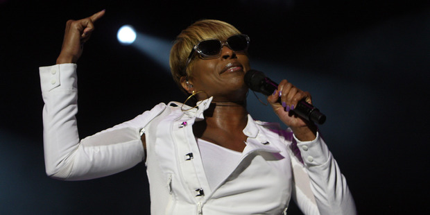 Mary J Blige performing at the Raggamuffin Festival in 2011. Photo / Andrew Warner