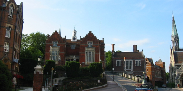 The sixth-form students, all aged about 17, have now been suspended from the school following the incident last Wednesday at Harrow School in West London. Photo / Supplied