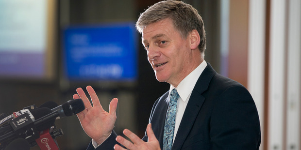 Deputy Prime Minister Bill English during his half-year economic and fiscal update presentation at the Treasury in Wellington. Photo / Mark Mitchell.