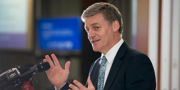 Prime Minister Bill English. The New Zealand government's accounts recorded a smaller-than-forecast deficit in the first five months of the fiscal year. Photo / Mark Mitchell