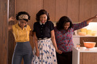 Janelle Mone (left), Taraji P. Henson and Octavia Spencer play Mary Jackson, Katherine Johnson and Dorothy Vaughan in the new film Hidden Figures. Picture / Hopper Stone, SMPSP; Twentieth Century Fox