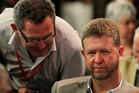 Greg Presland talks to David Cunliffe at the Labour Party conference in 2012. Photo / Michael Craig