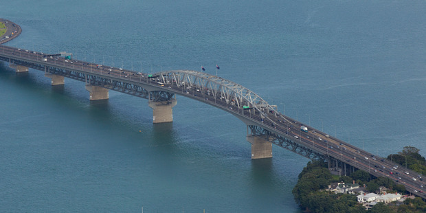 All lanes of the Auckland Harbour Bridge have now been reopened after an incident. File photo / Brett Phibbs
