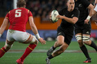 New Zealand All Blacks fullback Israel Dagg in action against Wales. Photo/Brett Phibbs