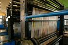 Newspaper printing press. File pic