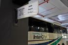 InterCity bus parked at the SkyCity bus terminal.