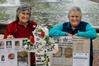Leigh Bixley (left) and Coleen Davey at a previous memorial service for murder victims. Photo / File