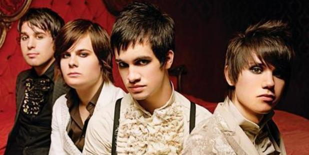 Panic at the Disco's original lineup: Jon Walker, Spencer Smith, Brendon Urie and Ryan Ross. Photo / Supplied