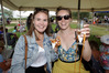 CHEERS: (L-R) Lucy Molony from Napier and Rose Frendin from Havelock North celebrated wine and fine times at Ash Ridge winery during Saturday's Bridge Pa Wine Festival. PHOTO/PAUL TAYLOR.