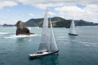 The Millenium Cup sees premier super-yachts race around the impressive Bay of Islands. Photo/Jeff Brown