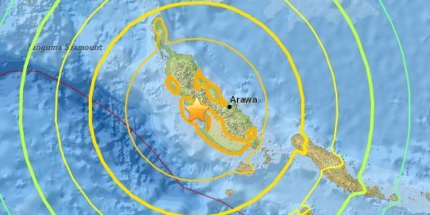 There is no tsunami threat to New Zealand following the 7.9M Solomon Islands earthquake, said Civil Defence. Photo / USGS