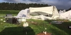 Watch: Raw video: Wedding couple blown away